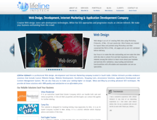 lifelineinfotech.com screenshot