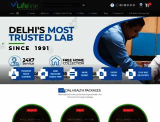 lifelinelaboratory.com screenshot