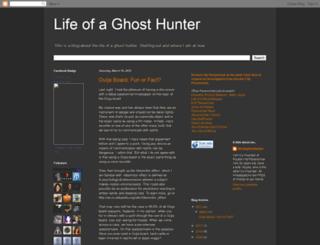 lifeofaghosthunter.blogspot.com screenshot