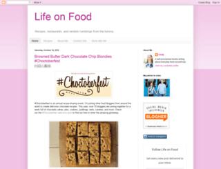 lifeonfood.blogspot.com screenshot