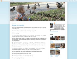 lifeonwillowdale.blogspot.com screenshot