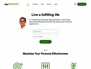 lifeoptimizer.org screenshot