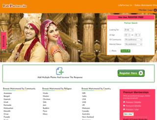 lifepartnerindia.com screenshot
