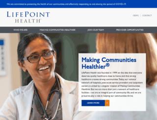 lifepointhospitals.com screenshot