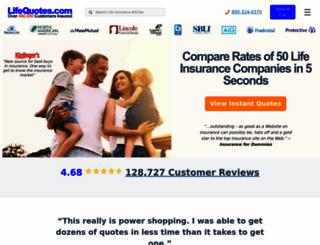lifequotes.com screenshot