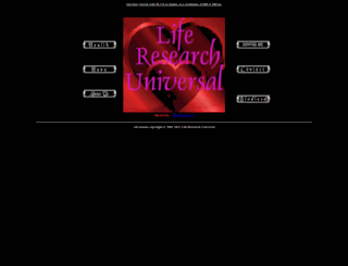 liferesearchuniversal.com screenshot