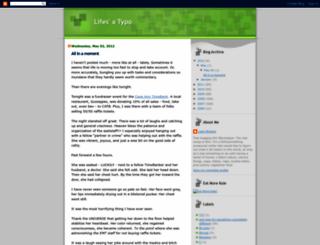 lifes-a-typo.blogspot.com screenshot