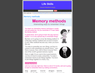 lifeskills.wordzila.com screenshot