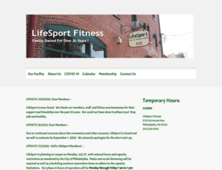 lifesportfitness.com screenshot