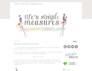 lifessimplemeasures.blogspot.com screenshot