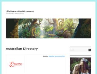 lifestreamhealth.com.au screenshot