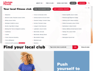 lifestylefitness.co.uk screenshot