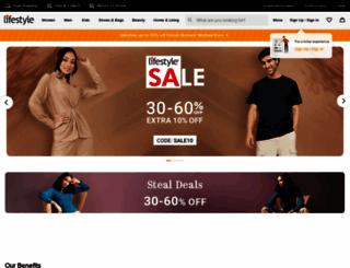 lifestylestores.com screenshot
