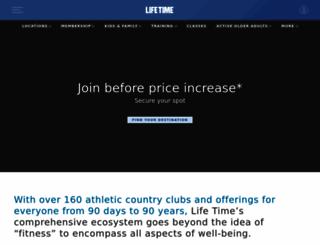 lifetimefitness.com screenshot