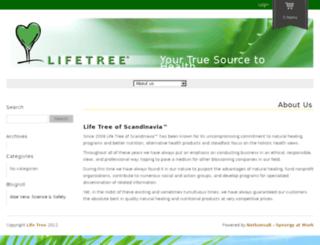 lifetree.se screenshot
