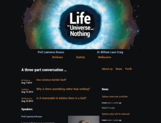lifeuniversenothing.org screenshot