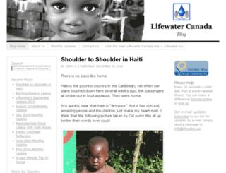 lifewaterblog.ca screenshot