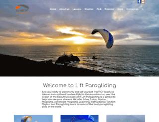 liftparagliding.com screenshot