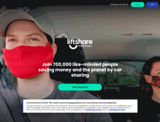liftshare.com screenshot