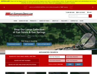 liftsupportsdepot.com screenshot