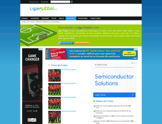 ligafutbol.com screenshot