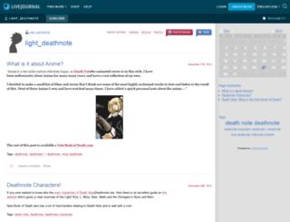 light-deathnote.livejournal.com screenshot