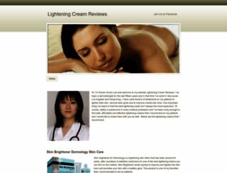 lighteningcreamreviews.weebly.com screenshot