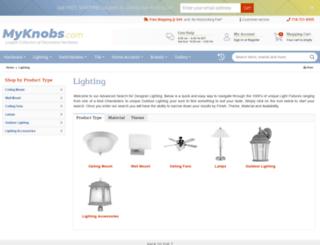 lighting.myknobs.com screenshot