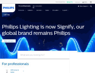 lighting.philips.co.nz screenshot