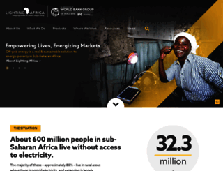 lightingafrica.org screenshot