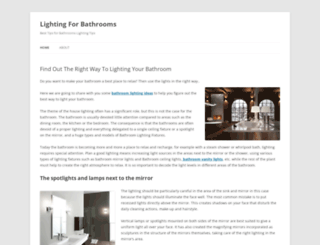 lightingforbathrooms.wordpress.com screenshot