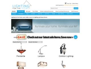 lightingforthehome.com screenshot