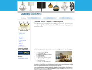 lightingstorestoronto.net screenshot