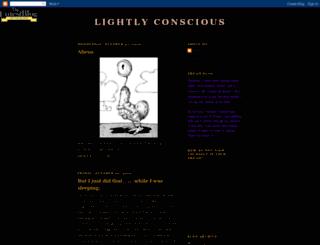 lightlyconscious.blogspot.com screenshot