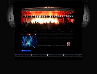 lightningaudiopro.com screenshot