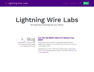 lightningwirelabs.com screenshot
