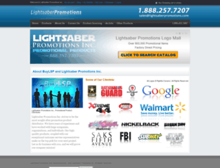 lightsaberpromotions.com screenshot