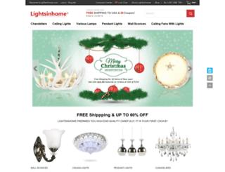lightsinhome.com screenshot
