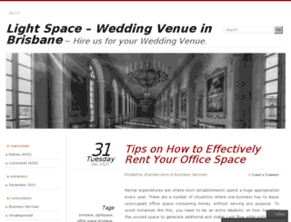 lightspacevenue.wordpress.com screenshot