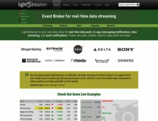 lightstreamer.com screenshot