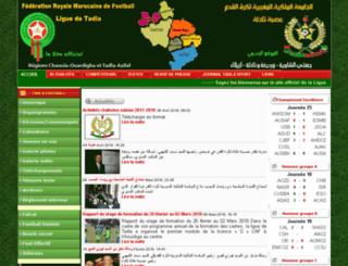 ligue-tadla-football.org screenshot