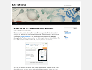 like1stnews.wordpress.com screenshot
