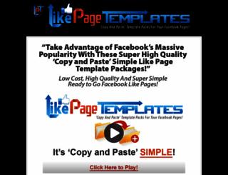likepagetemplates.com screenshot