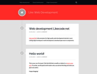 likewebdevelopment.wordpress.com screenshot