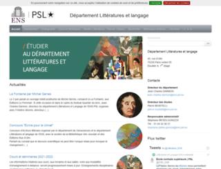 lila.ens.fr screenshot