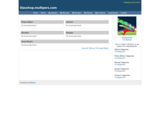 lilacshop.multipers.com screenshot