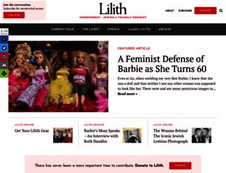 lilith.org screenshot
