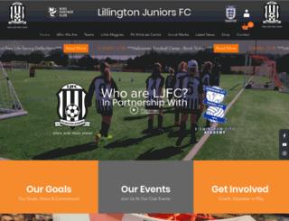 lillingtonjuniorsfc.co.uk screenshot