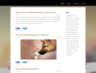 lilymarshall.weebly.com screenshot