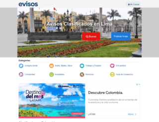 lima-city.evisos.com.pe screenshot